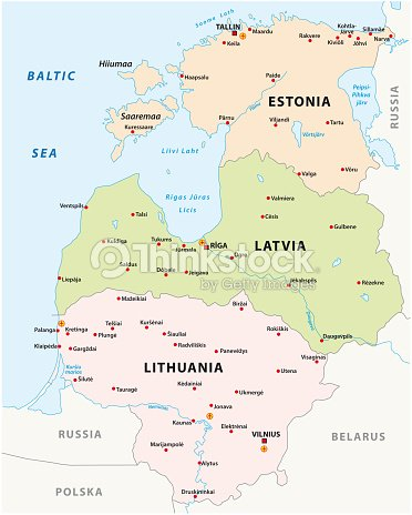 Vector States Map.Baltic States Map Vector Art Thinkstock