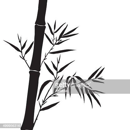 Bambusblatt Hintergrund Der Spitze Des Bambus Vektorgrafik Thinkstock