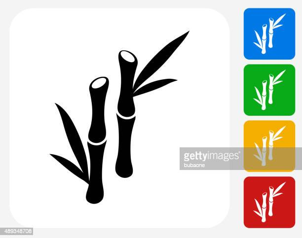 Bamboo Tree Icon Flat Graphic Design