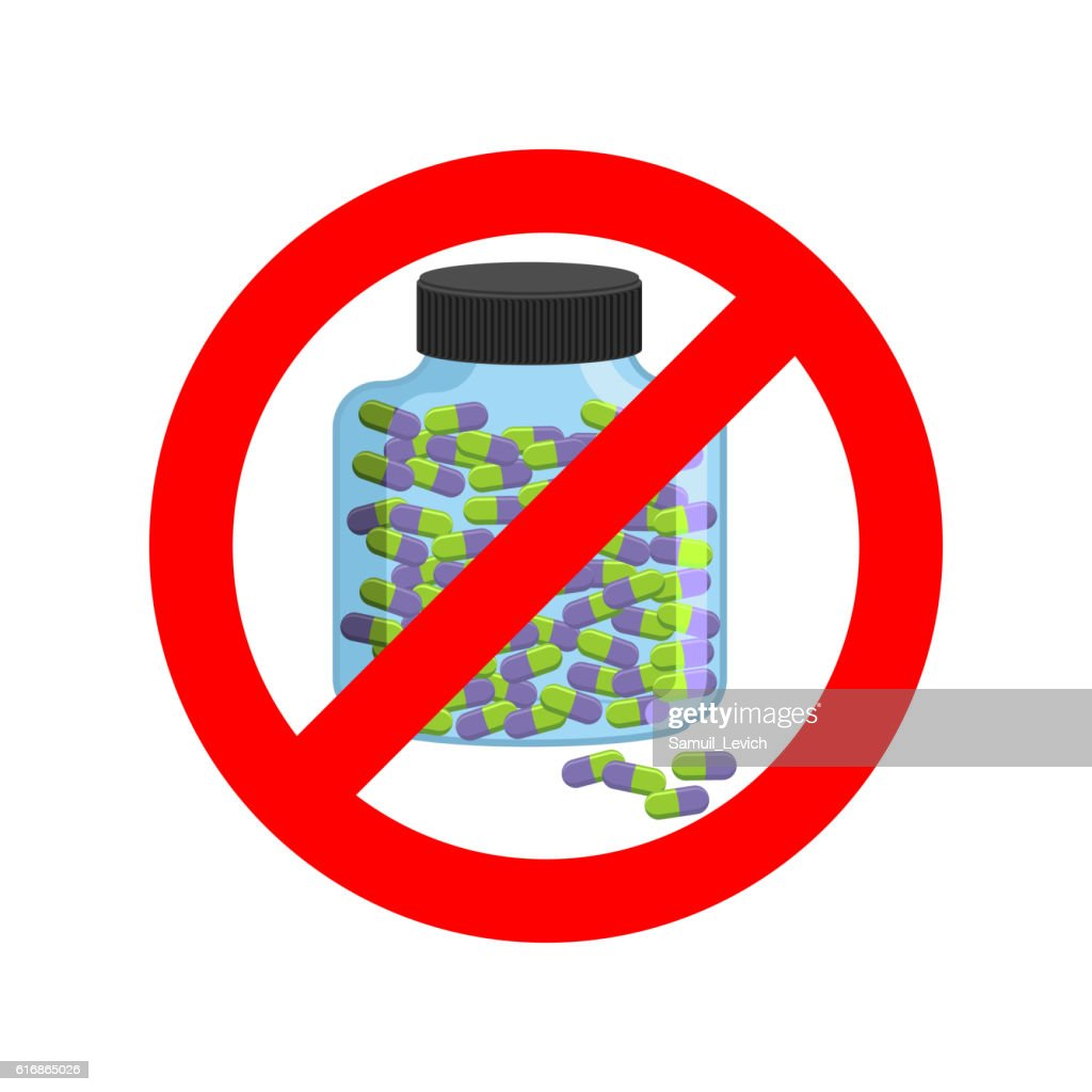 Ban doping. It is forbidden to take stimulants. Crossed-out spor : Vector Art