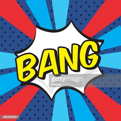 bang comics icon : Vector Art