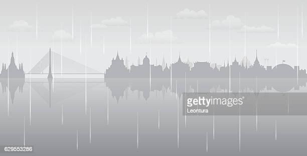 Bangkok Rain (All Buildings are Complete and Moveable)