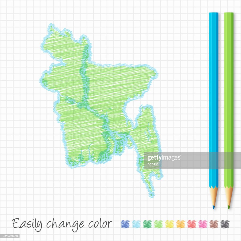 Bangladesh Map On Grunge Canvas Background Vector Art Getty Images - Bangladesh map