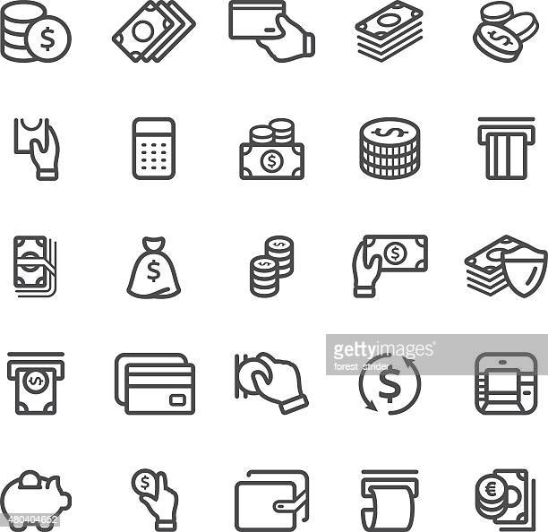 Banking and Currency icon set