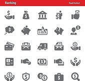 Professional, pixel perfect icons depicting various banking concepts (optimized for both large and small resolutions).