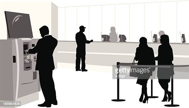 Banking Vector Silhouette