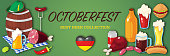 Colorful banner for October beer festival. Vector illustration.