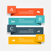 Banner infographic design template with place for your data. Vector illustration