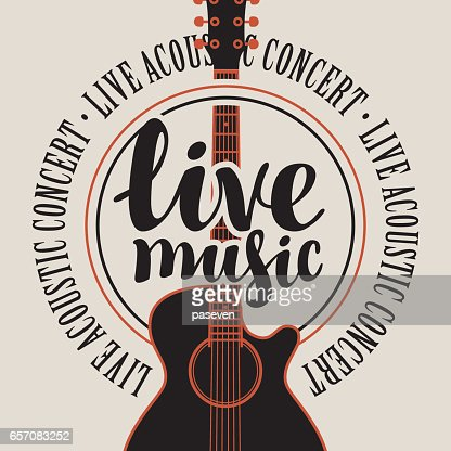 Banner Live Music With Acoustic Guitar Vector Art Thinkstock
