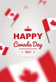 Banner of design elements for Canada Day 1st of July. Vector modern stylish illustration. Vector banner for the Internet to the Canada Day with red leaves.