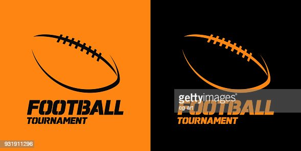 Banner or emblem design with American Football ball silhouette icon : stock vector