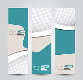 Banner template. Abstract background for design,  business, education, advertisement.