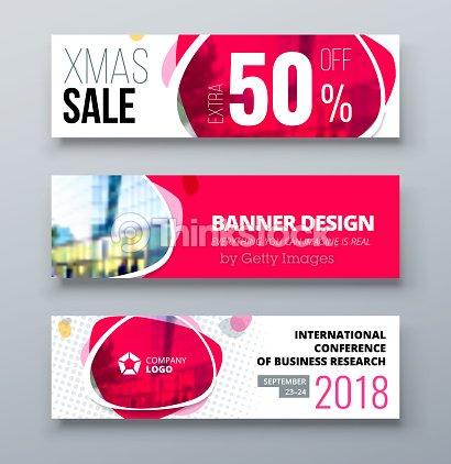 banner template design presentation concept pink corporate business