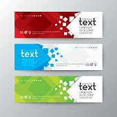 Set of modern colorful design banners template with abstract square pattern background