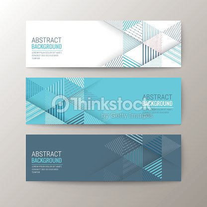 banners template with abstract triangle pattern background vector