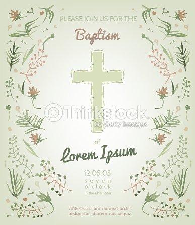Baptism invitation card vector art thinkstock baptism invitation card vector art stopboris Image collections