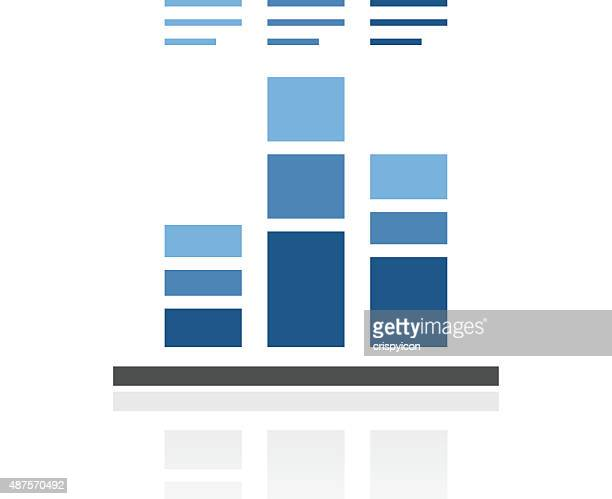 Bar Graph icon on a white background.