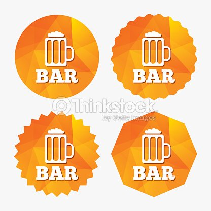 Bar Or Pub Sign Icon Glass Of Beer Symbol Vector Art Thinkstock