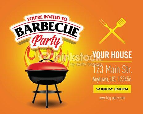 barbecue party design template barbecue invitation vector art