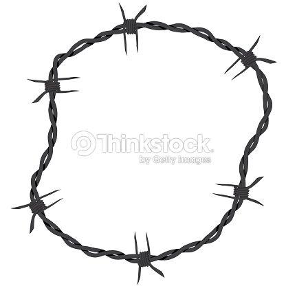 Barbed Wire Vector Vector Art   Thinkstock
