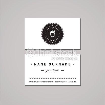 Concept De Design Carte Visite Salon Coiffure Pour Hommes Mustached Homme Avec Un Logo