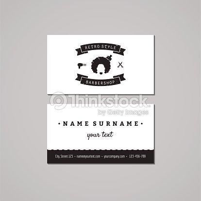 Barbershop business card design concept logo with afro hairstyle barbershop business card design concept logo with afro hairstyle woman vector art colourmoves
