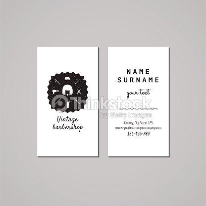 Concept De Design Carte Visite Salon Coiffure Pour Hommes Logo Cheveux Femme Avec Bob