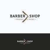 Barbershop vintage icon. Scissors hairdresser beige gray icontype. Barber tool icon template