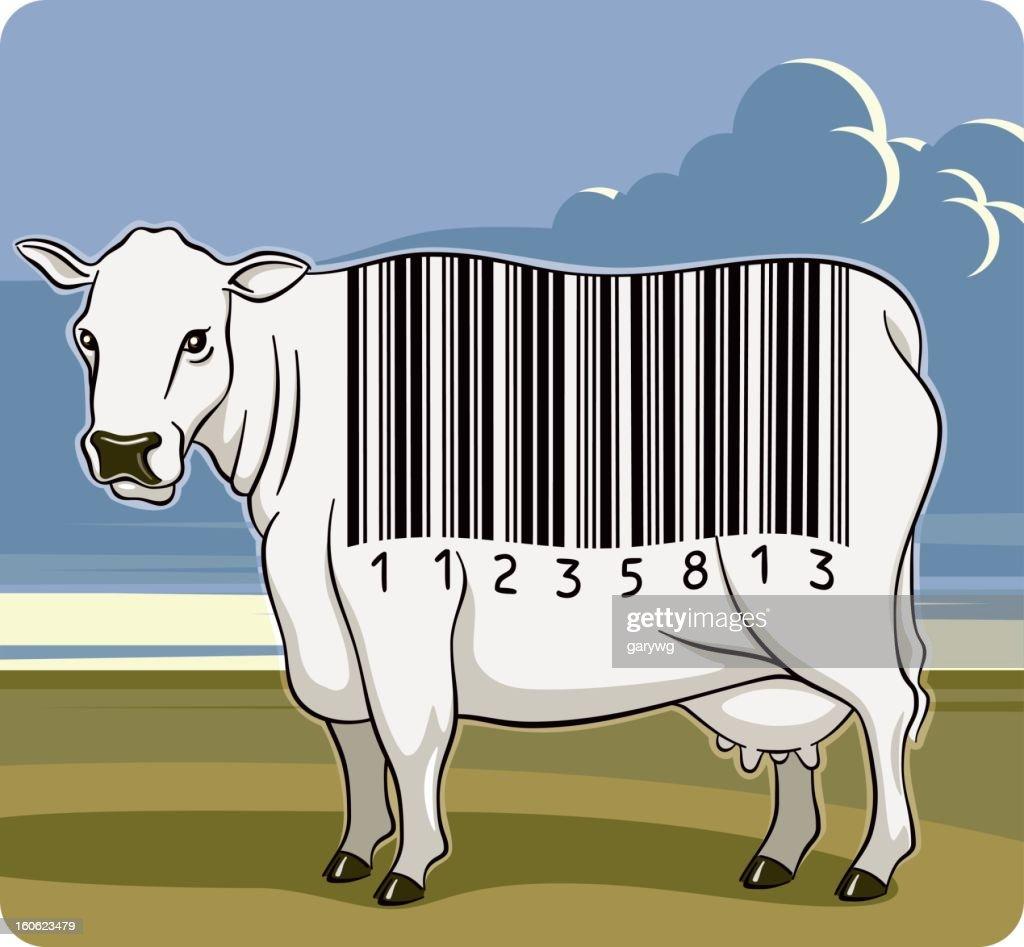 Barcode Cow : Vector Art