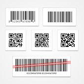 Barcode Tag or Sticker Set.  Vector illustration