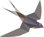 Low-Poly Barn Swallow Bird