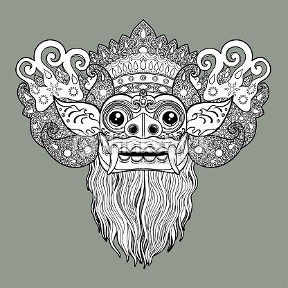 Barong Traditional Ritual Balinese Mask Stock Vector Thinkstock