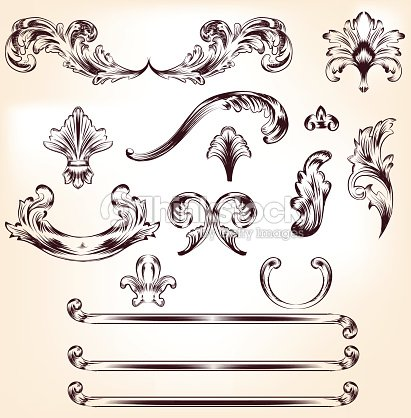 Baroque elements for your design baroque texture for Baroque design elements