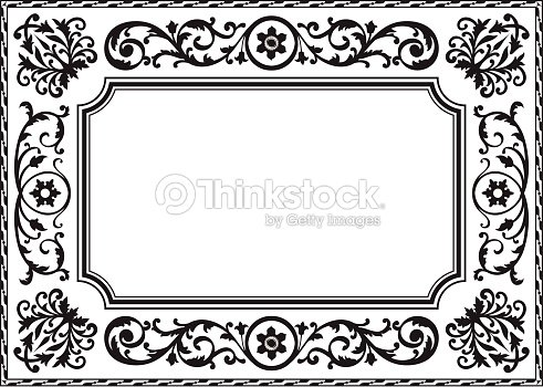 cadre baroque clipart vectoriel thinkstock. Black Bedroom Furniture Sets. Home Design Ideas