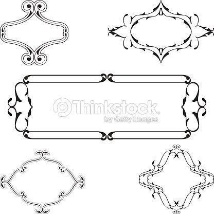 Baroque Vintage Nice Frame Set Vector Art | Thinkstock