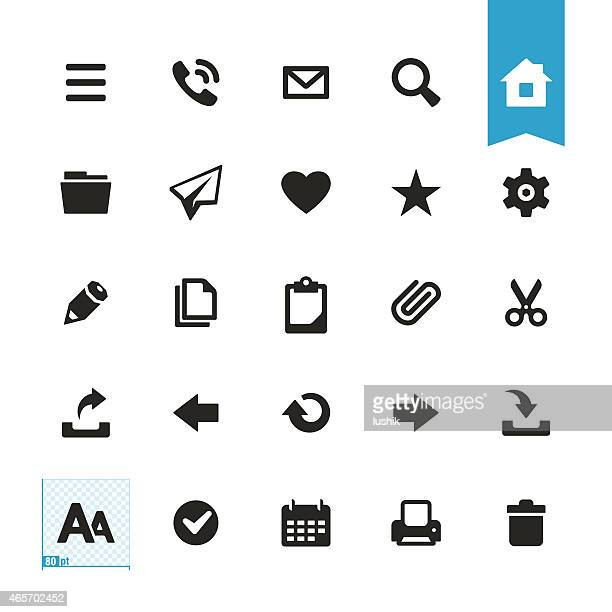 Base users actions vector icons