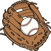 Baseball and Glove -  are separately grouped objects and can be quickly repositioned or removed for your project.