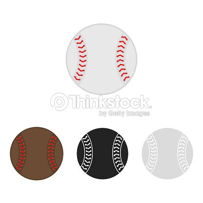 400d14dd42362 Baseball ball set. Softball. Vector silhouettes of a baseball balls. Vector  icons isolated on white background. Flat vector collection.
