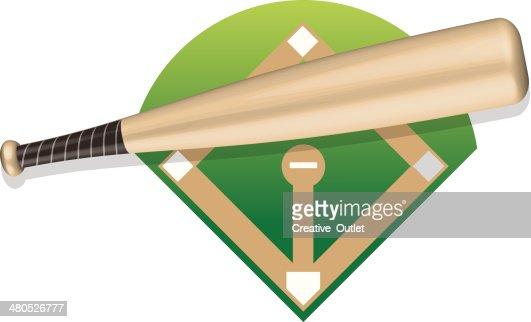 Baseball Bat : Vector Art
