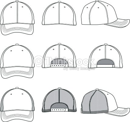 baseball cap template ベクトルアート thinkstock