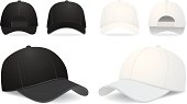 Baseball Cap Vector Illustration on white. See also: