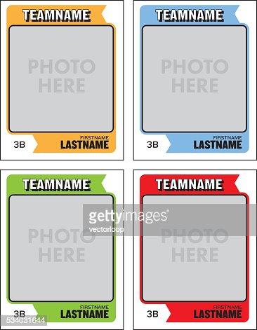 Erfreut Sport Trading Card Vorlage Bilder - Beispiel Anschreiben für ...