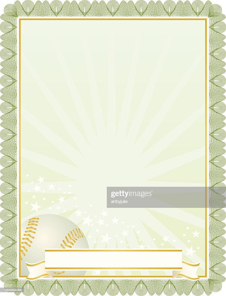 baseball certificate vector art getty images