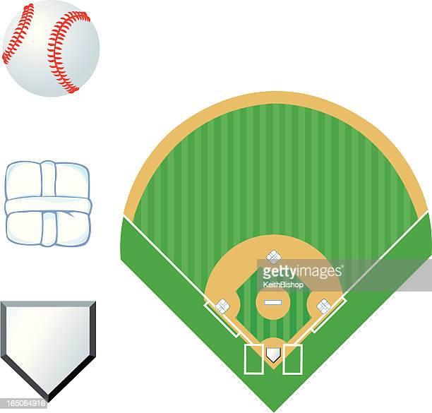 baseball diamond stock illustrations and cartoons getty