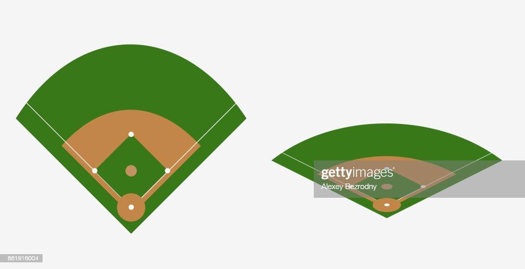 baseball field vector plan vector art thinkstock rh thinkstockphotos com baseball field vector art baseball field vector clipart