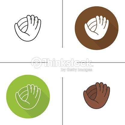 Baseball glove icons : stock vector
