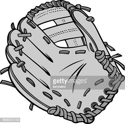 Baseball Glove Illustration : stock vector