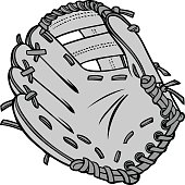A vector illustration of a Baseball Glove.