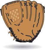 brown leather baseball glove