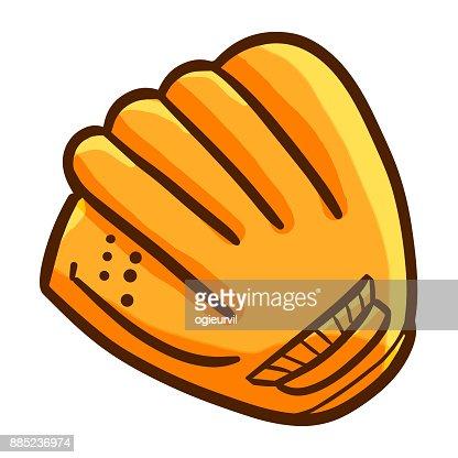 Baseball glove. : stock vector